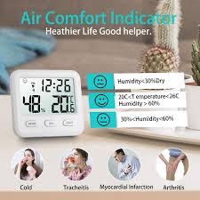 wohnzimmer digitales thermometer innen temperatur tragbares