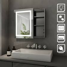 led spiegelschrank bad mit beleuchtung und steckdose badezimmer spiegelschrank
