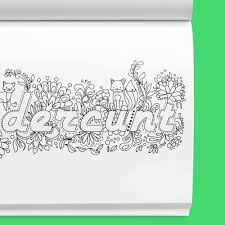 Swear Word Adult Coloring Book Stress Relief With Sweary Words Animals And Flowers