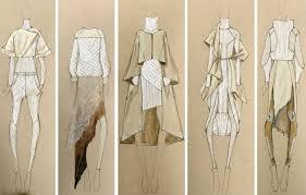 Fashion Design Sketches Using White Pen