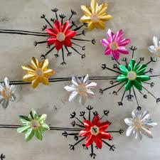 Christmas Light Reflectors Tin Covers Bulb Foil Vintage Aluminum Tree