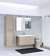 badezimmermöbel set s salem 3 teilig inkl waschtisch waschbecken farbe eiche hell