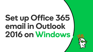 GoDaddy fice 365 Email Setup in Outlook 2016 Windows