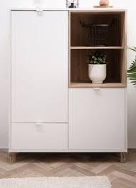highboard weiß und used wood wohnzimmer esszimmer schrank 103 x 139 cm menorca