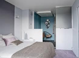 chambre parentale grise peinture couleur gris blanc bleu dans chambre parentale