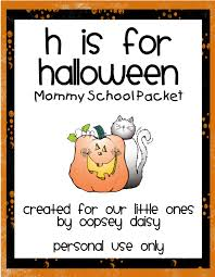 Preschool Halloween Books by H Is For Halloween Packet Oopsey Daisy