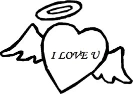 I Love You Angel Heart Coloring Pages