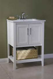 Narrow Depth Bathroom Vanity Canada by Classic 24 Inch Bathroom Vanity White Finish With Basket 21 Best