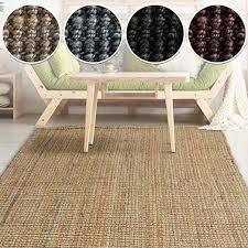 casa pura jute teppich webteppich aus naturfaser moderner juteteppich natürliche sisal optik für wohnzimmer esszimmer und flur große auswahl