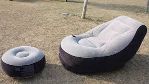 Intex Inflatable Sofa With Footrest by Intex Inflatable Single Seater Air Sofa With Foot Rest U0026 Air Pump
