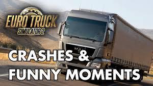 Crashes & Funny Moments (Euro Truck Simulator 2) - YouTube