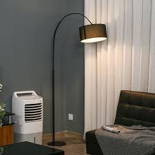 homcom stehleuchte mit 180 verstellbaren lenschirm schwarz 33 5 x 97 x 179 cm bxtxh stehleuchte stehle deckenfluter wohnzimmer