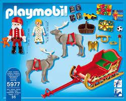 maison du pere noel playmobil playmobil 5977 traîneau de renne du père noël fr jeux et