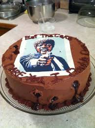 Pumpkin Pie Pulp Fiction by Pulp Fiction Themed Chocolate Raspberry Birthday Cake For My