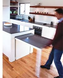 Hideaway Kitchen Table Great Idea For Condos With Limited Open Living And Spaces Small IslandIsland