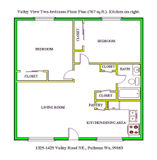 Floor Plan Of A Two Bedroom At The Valley View Apartments 1325 Road