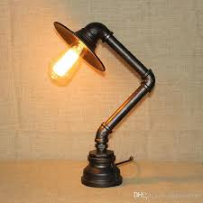 water pipe table l with black lshade s l edison bulb water