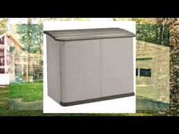 rubbermaid horizontal storage shed review youtube
