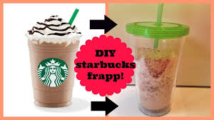 DIY HOMEMADE DOUBLE CHOCOLATE CHIP FRAPP FROM STARBUCKS