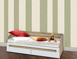 jugendbett einzelbett 90x200cm sonoma eiche weiß hochglanz