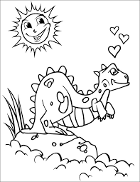 Coloring Page Of Dinosaurs