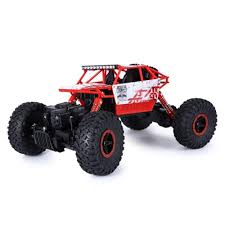 100 Monster Truck Remote Control Waterproof Led Rock Crawler RC 4 Wheel Drive 118 Scale Red