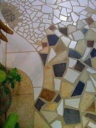 mosaic tile floor section by originals by rhonda on