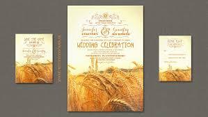 Read More WHEAT RUSTIC WEDDING INVITATIONS