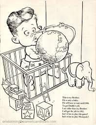 Vintage Cartoon John Kennedy Jr Coloring Book