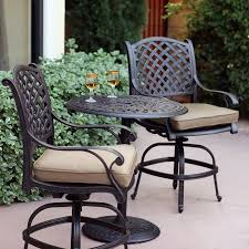 Darlee Patio Furniture Quality by Shop Darlee Nassau 3 Piece Antique Bronze Aluminum Bar Patio