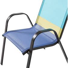 Stack Sling Patio Chair Turquoise by Mainstays Heritage Park Stacking Sling Chair Color Block Cool