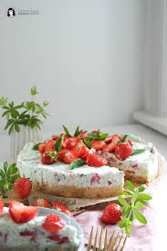 waldmeister erdbeer minze frischkäse torte