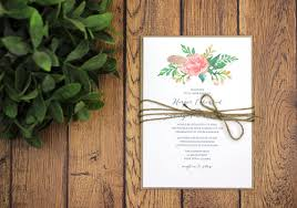 Rustic Modern Wedding Invitation And RSVP Template Watercolor Floral Garden Backyard DIY Home Prints Printed Invites 1080