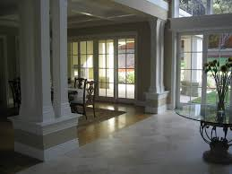 Sliding French Doors Interior Spaces With Cased Opening Columns Dining