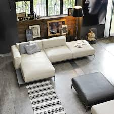 Modular Sofa Corner Contemporary Leather METROPOLIS Doimo