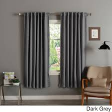 120 Inch Length Blackout Curtains by Aurora Home Insulated 72 Inch Thermal Blackout Curtain Panel Pair