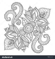 Download Coloring Pages Henna Adults Mehndi Doodles Stock Vector 406504495
