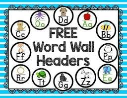 Lets Talk Word Walls