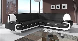 canapé noir et blanc deco in canape d angle design noir et blanc marita xl marita