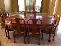 Exquisite Rosewood Dining Table With Chairs And 6 8 People Sitting For Sale In Frisco TX