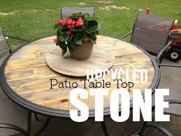 Wood Patio Table Top Upcycled