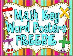 Math Key Word Posters FREEBIE