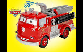 100 You Tube Fire Truck Disney Pixar Cars RC Red Engine Unboxing Demo Review
