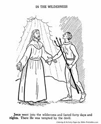 Jesus Teaches Coloring Pages P1 Is Tempted In The Wilderness