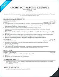 Creative Architect Resume Examples Also