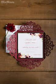 Burgundy Wedding Invitations Rustic Ideas