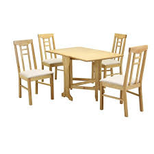 Liverpool Gateleg Dining Table 4 Chairs Natural