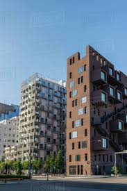 100 Houses In Norway Oslo Norway 28 July 2018 Contemporary Houses And City Street At Barcode District Oslo Stock Photo