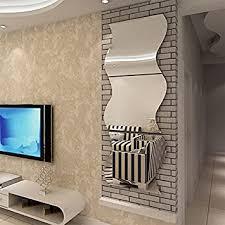 stereo acryl welle kombination spiegel an wohnzimmer