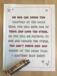 Matthew 624 Bible Verse Coloring Page